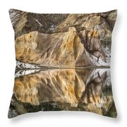 Reflections Of Clay Cliffs In Blue Lake Throw Pillow
