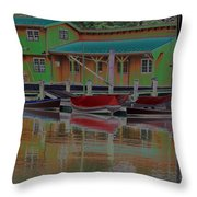 Reflections Of Color Throw Pillow