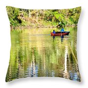 Reflections Of Fathers' Day Throw Pillow