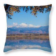 Reflections Of Longs Peak  Throw Pillow