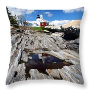 Reflections Of Pemaquid Throw Pillow by Brenda Giasson