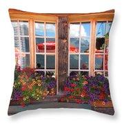 Reflections Of Switzerland Throw Pillow