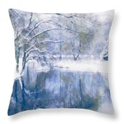 Reflections Of Winter Throw Pillow