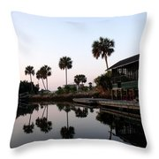 Reflections On A Day's Catch Throw Pillow