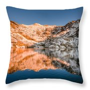 Reflections On Angel Lake Throw Pillow