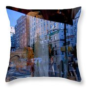 Reflections On Madison Avenue Throw Pillow