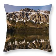 Reflections On Red Eagle Mountain Throw Pillow