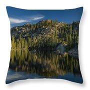 Reflections On Salmon Lake Throw Pillow