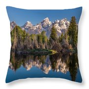 Reflections On Schwabacher Landing Throw Pillow