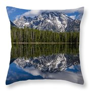 Reflections On String Lake Throw Pillow