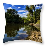 Reflections On The Kankakee Throw Pillow