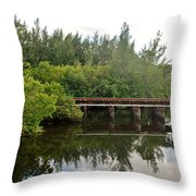 Reflections On The North Fork River Throw Pillow