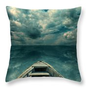 Reflections On The Sea Throw Pillow