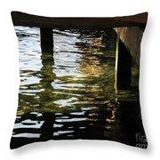 Reflections Under Pier Throw Pillow