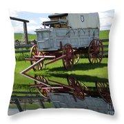 Reflective Wagon Throw Pillow