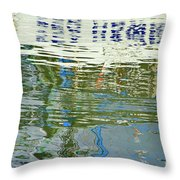 Reflective Water Abstract Throw Pillow