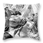 Reform School Girls, 1895 Throw Pillow