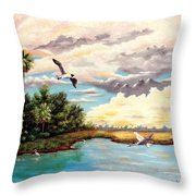 Refreshed By The Rain Throw Pillow