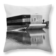 Refrigerated Barge, C1935 Throw Pillow