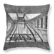Refrigerated Ship, 1876 Throw Pillow