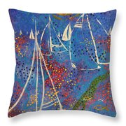 Regata Di Primavera Throw Pillow