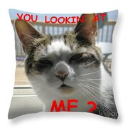 Reggie De Niro Throw Pillow