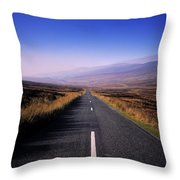 Regional Road In County Wicklow Throw Pillow