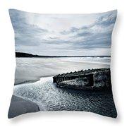Reighton Sands Beach Throw Pillow