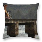 Relaxed Ride Hanalei Bay Throw Pillow