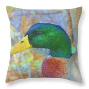 Relaxing By The Pond Throw Pillow