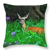 Relaxing In The Morning Throw Pillow