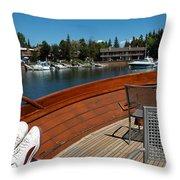 Relaxing On Lake Tahoe Throw Pillow