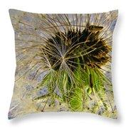 Releasing Seeds Throw Pillow
