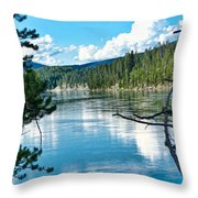 Relective Clouds Throw Pillow