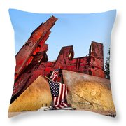 Remember September 11th Throw Pillow
