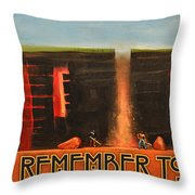 Remember To Flush Poster Throw Pillow
