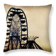 Remember When Ferris Wheel Throw Pillow
