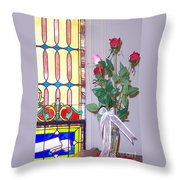 Remembering With Roses Throw Pillow