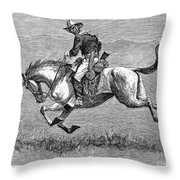 Remington: 10th Cavalry Throw Pillow