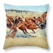 Remington: Indian Warfare Throw Pillow
