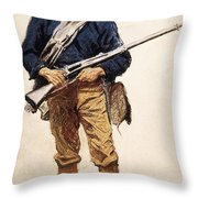 Remington: Soldier, 1901 Throw Pillow
