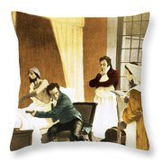 Rene Laennec, French Physician Throw Pillow