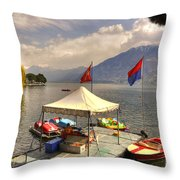 Rent A Boat Throw Pillow
