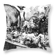 Republican Elephant, 1874 Throw Pillow