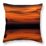 Reservoir Sunset Throw Pillow