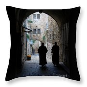 Residents Of Jerusalem Old City Throw Pillow