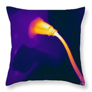 Resistive Heating Of A Wire Throw Pillow by Ted Kinsman