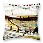 Resolute Throw Pillow