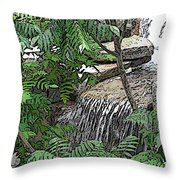 Respite From The Maddening Crowds Throw Pillow
