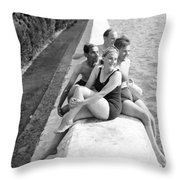 Rest Time 1946 Throw Pillow